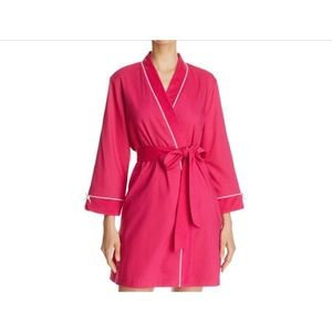 Kate spade pink play hooky short terry robe XL